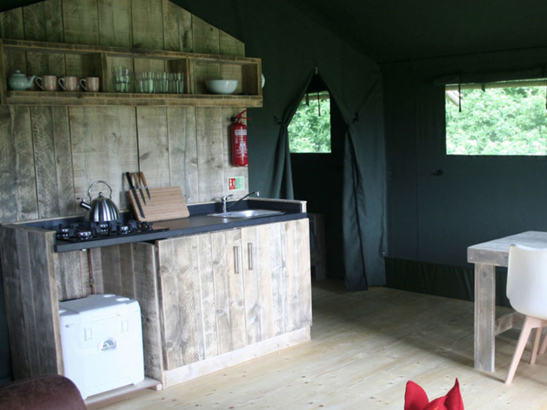 Safari Tent Plus Range kitchen