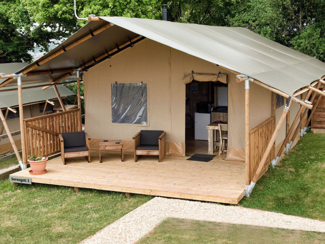 Safari Tent Plus Range veranda