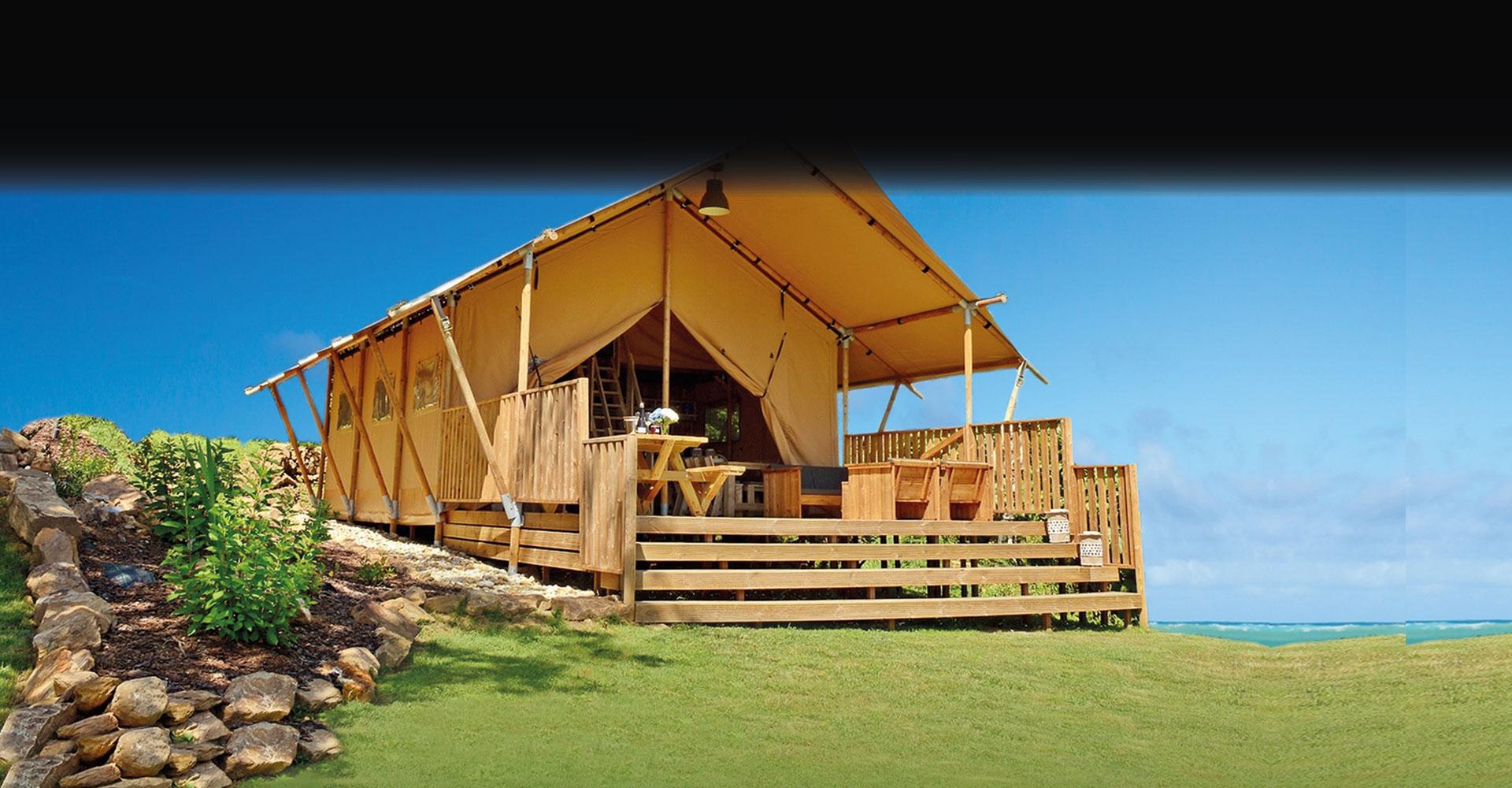 Safari tents on the Isle of Wight