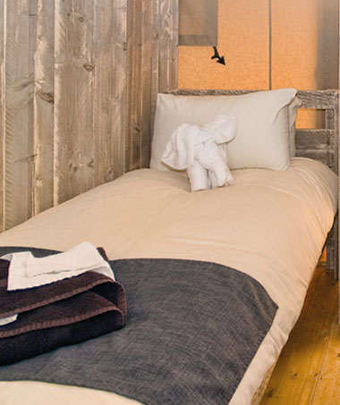 Glamping Single Beds